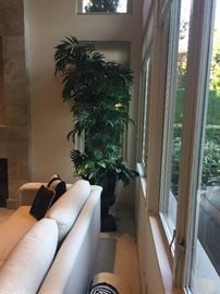 Potted faux plant for sale - sofa is not in the sale