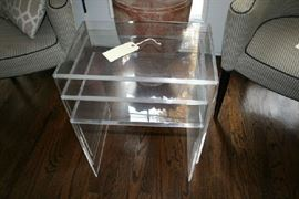 Lucite / Acrylic Stacking Tables