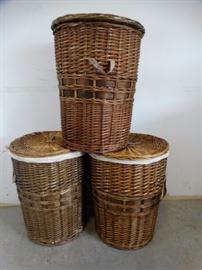 3 Wicker Basket with Handles