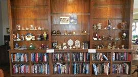 Living Room:  Built-in bookcases display collectibles and books.  Photos of each unit follow.