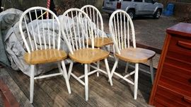 four nice bentback chairs