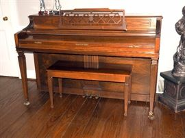 "Kohler & Campbell Console Piano, #41740, Circa 1900-1905, Original Design By Jorgen G. Hansen With Spruce Permatone Soundboards, 38.5""H x 58""W x 25.5"""