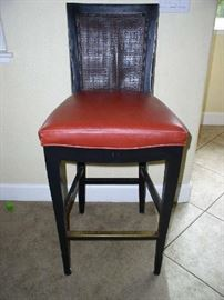 Leather bar stools.