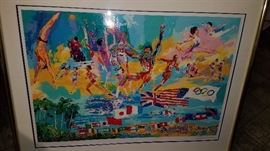 LeRoy Neiman signed 150/600 print 1984 Olympics