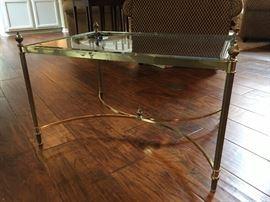 """Brass & Glass Coffee Table 29"""" x 21"""" x 19"""""""
