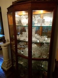 Cabinet with Decorative Glass