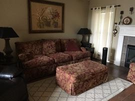 Sofa W/Pillows..... Large Matching Foot Rest