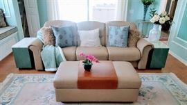 Stressless sofa & ottoman/storage.