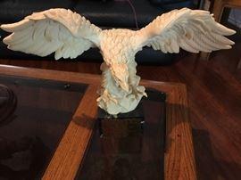 Beautiful White Eagle Statue