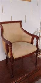 Nice Wood and Upholstered Chair