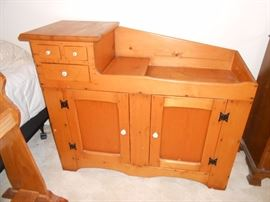 antique pine dry sink