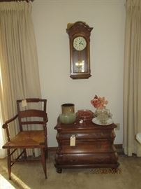 Howard Miller clock, Hekman chest