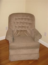 2 Swivel Upholstered Rocking Chairs