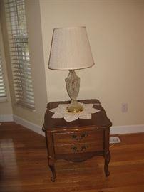 BR Nightstand. Lamp