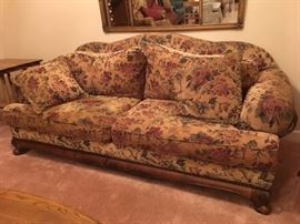 LARGE  UPHOLSTERED SOFA IN GREAT CONDITION.