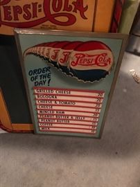 This very hard to find piece is in excellent condition - Pepsi Menu Board