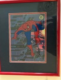 Signed Spiderman Animation Art