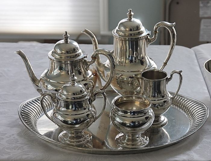 TWO big sterling silver coffee / tea sets this time