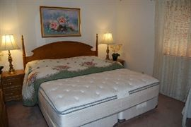 Stanley Bedroom Set with quality king box spring and mattress