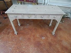 Shabby Chic four drawer Desk