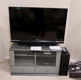 "46"" Sony Television w/Media Cabinet - Plus Sony Sound System"