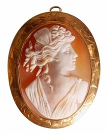 10 Kt. Gold Shell Cameo