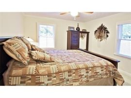 Mission-style 3 piece queen bedroom suite as pictured (includes linens) for ONLY $875