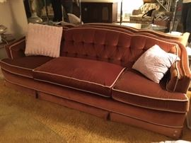 vintage plush sofa