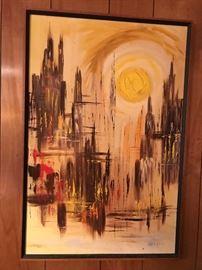 Retro oil painting