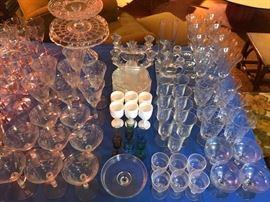 More elegant glassware