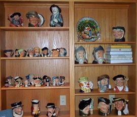 Many Royal Doulton Toby mugs