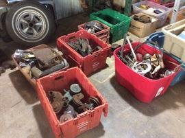 Lots of car parts