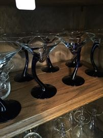 Some of the beautiful stemware sets available.  Modern with dark stems...beautiful and unique!
