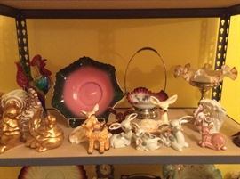 More Victorian glass, roosters and Disney