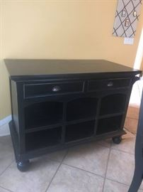 #7 Black Painted Distressed Buffet Cabinet 2 pcs. 49x25x36T As Is $200.00 each piece