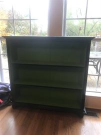#8	Black 3 shelf Hutch  49x11x47 	 $200.00