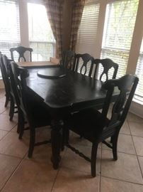 #9	Black Distressed Table w/2 leaves   72-108x44x30	 $1,000.00