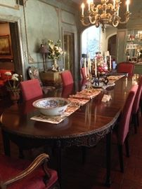 Incredible 14 foot antique dining table (Chairs are sold separately.)