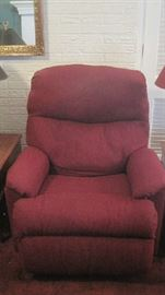 One of two Flexsteel recliner chairs