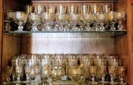 Libbey gold leaf frosted glassware / barware