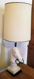 Vintage Horse Head Lamp