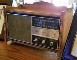 RCA Victor AM/FM Radio Solid State Maple Wood Console