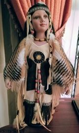 Heritage Signature Collection Native American Porcelain Doll