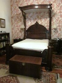 Tester Bed, chest and one end table is no longer for sale.