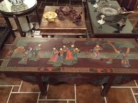 Chinese hand painted coffee table/bench