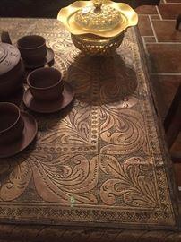 Metal clad Persian table