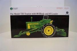 Precision ERTL John Deere 720 Tractor w/80 blade a ...