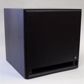 Acoustic Research Subwoofer: An Acoustic Research subwoofer, model S12HO, with a black wooden cabinet.