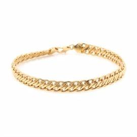 Milor 18K Yellow Gold Link Bracelet: An 18K yellow gold link bracelet by Milor.