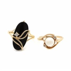 51d0fef15d5 10K Yellow Gold Diamond and Gemstone Ring Selection: A 10K yellow gold  diamond and gemstone